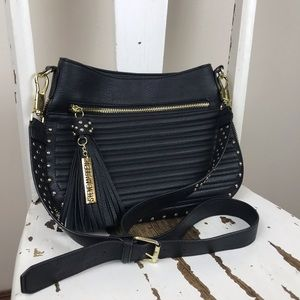 Steve Madden Black Faux Leather Crossbody